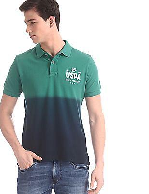U.S. Polo Assn. Denim Co. Green Dip Dye Pique Polo Shirt