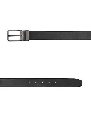 U.S. Polo Assn. Black And White Reversible Leather Belt