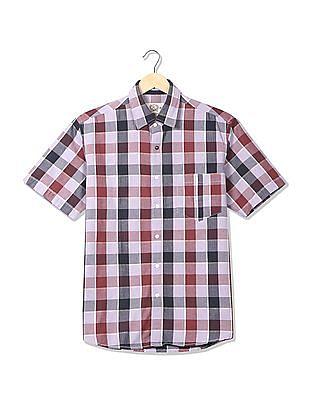 Arrow Sports Regular Fit Checked Shirt