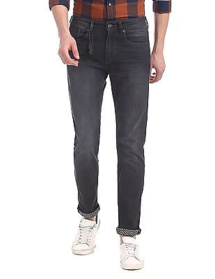 Flying Machine Grey Michael Slim Tapered Fit Mid Rise Jeans