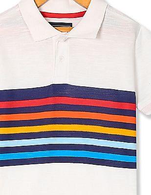 Cherokee Boys Short Sleeve Chest Stripe Polo Shirt
