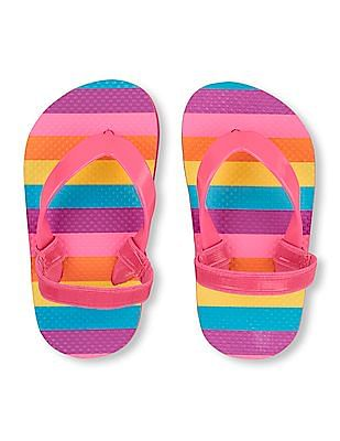 The Children's Place Baby Striped Flip Flops