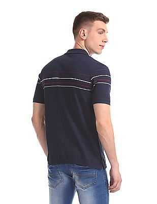 Roots by Ruggers Short Sleeve Striped Polo Shirt