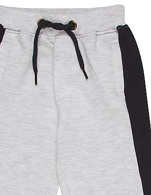 Donuts Boys Contrast Panel Heathered Joggers