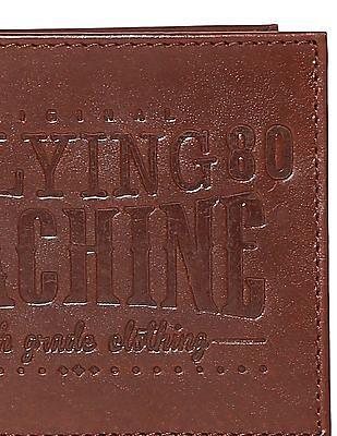 Flying Machine Embossed Bi Fold Wallet