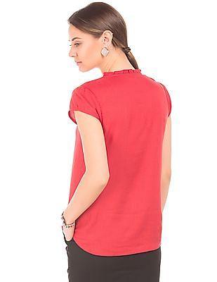 Arrow Woman Self Stripe Modal Top