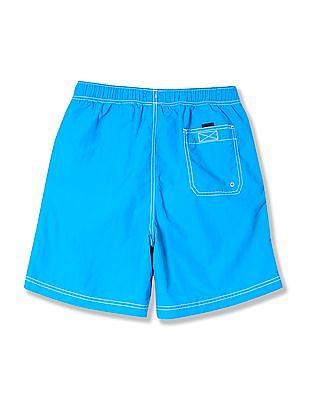 Nautica Solid Logo Board Shorts