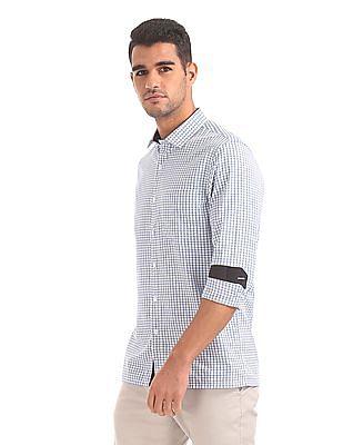 Excalibur Patterned Weave Cotton Shirt