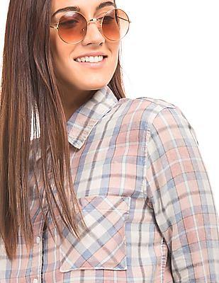 Aeropostale Spread Collar Check Shirt