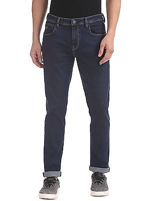 Arrow Sports Relaxed Fit Dark Wash Jeans
