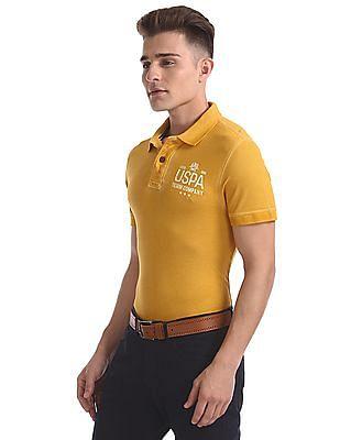 U.S. Polo Assn. Denim Co. Printed Pique Polo Shirt