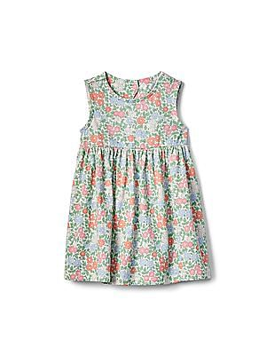 GAP Baby Multi Colour Floral Fit And Flare Dress