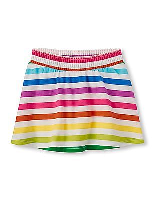 The Children's Place Toddler Girl Multi-Colour Active Printed Circle Skort