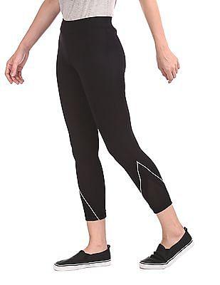 SUGR Black Mesh Panel Active Leggings