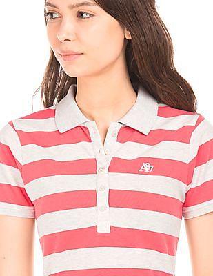 Aeropostale Striped Pique Polo Shirt
