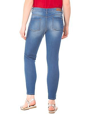 Flying Machine Women Stone Wash Skinny Jeans