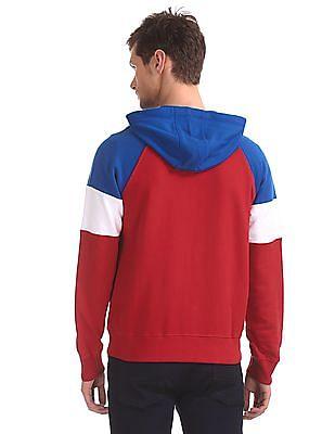 U.S. Polo Assn. Blue Raglan Sleeve Colour Block Sweatshirt