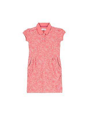 U.S. Polo Assn. Kids Girls Paisley Print T-Shirt Dress