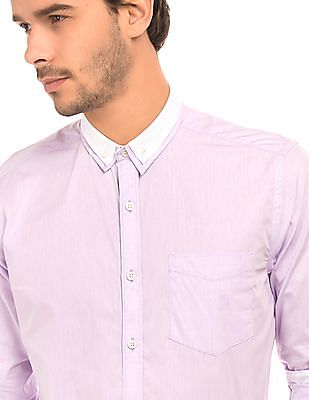 Izod Button Down Jacquard Shirt