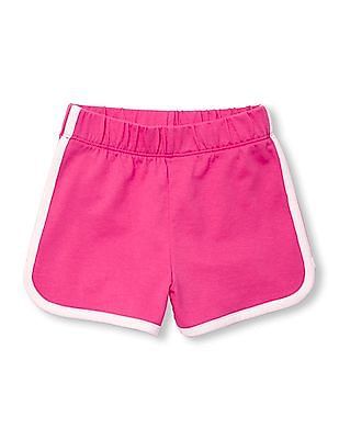 The Children's Place Toddler Girl Pink Solid Dolphin Shorts