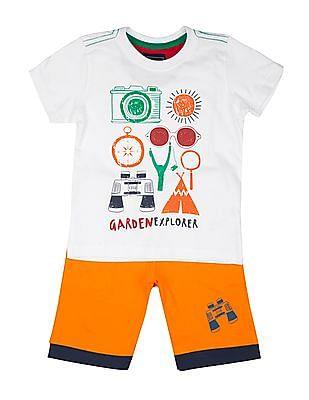 Cherokee Boys Toddler Fashion Tee and Short Set
