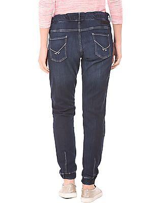 U.S. Polo Assn. Women Drawstring Waist Washed Jogger Jeans