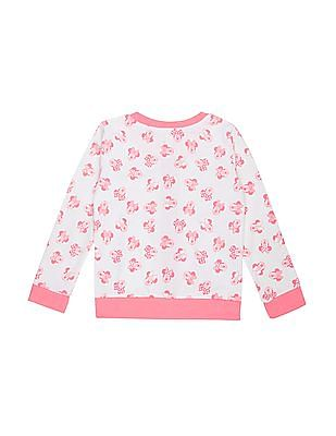 Colt Girls Contrast Trim Minnie Mouse Print Sweatshirt