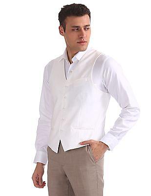 Arrow Slim Fit Patterned Weave Bandi