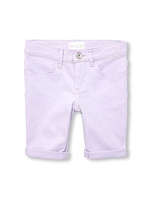 The Children's Place Girls Solid Woven Skimmer Short