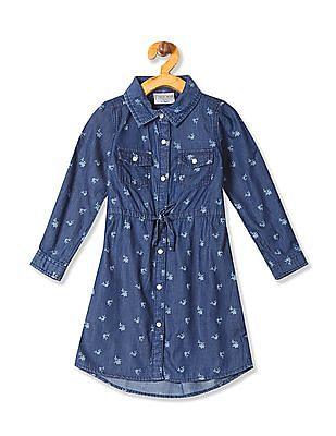 Cherokee Girls Printed Shirt Dress