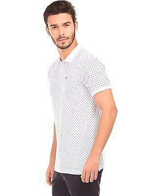 Ruggers Star Print Pique Polo Shirt