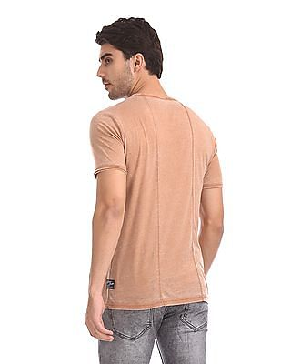 Cherokee Raw Edge Faded T-Shirt