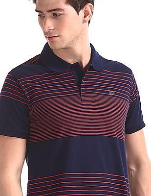 Ruggers Blue Striped Cotton Polo Shirt