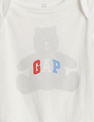 GAP Baby White Logo Graphic Bodysuit