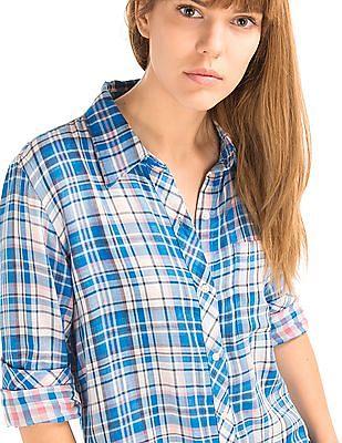 GAP Double Layer Plaid Shirt
