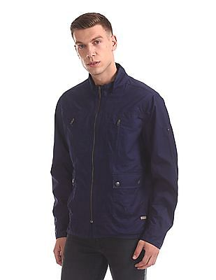 Flying Machine Stand Collar Utility Jacket