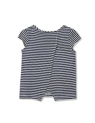 GAP Toddler Girl Blue Printed Tulip-Back Top