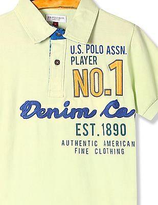 U.S. Polo Assn. Kids Boys Standard Fit Embroidered Polo Shirt