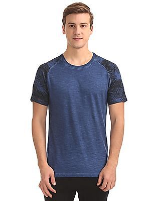 Cherokee Printed Raglan Sleeve Washed T-Shirt