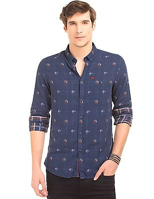 Ed Hardy Patterned Weave Slim Fit Shirt