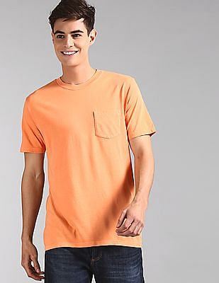 GAP Orange Vintage Wash Pocket T-Shirt