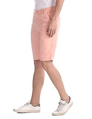Arrow Sports Pink Regular Fit Woven Shorts