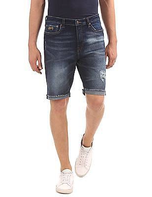 Aeropostale Raw Hem Denim Shorts