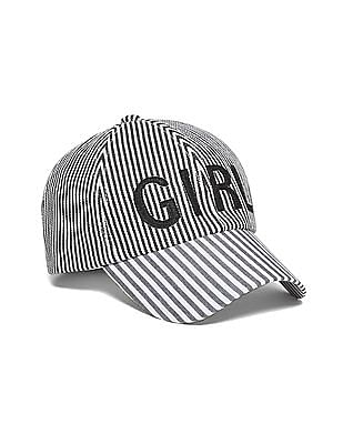 SUGR Striped Cotton Twill Cap