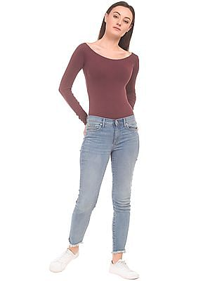 Aeropostale Long Sleeve Stretch Jersey Bodysuit