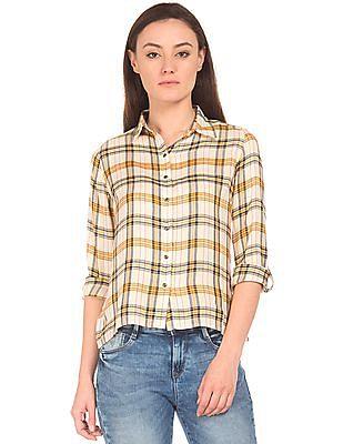 91455b19c49 Buy Women Regular Fit Check Shirt online at NNNOW.com