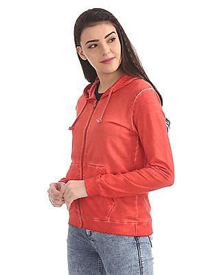 Cherokee Hooded Solid Sweatshirt