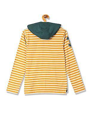 U.S. Polo Assn. Kids Boys Hooded Long Sleeve T-Shirt