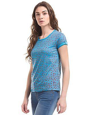 Cherokee Geometric Print Regular Fit T-Shirt