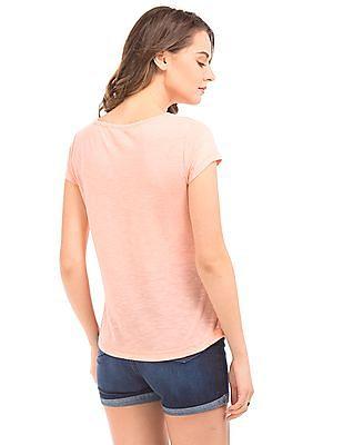 Elle Paris Print Heathered T-Shirt